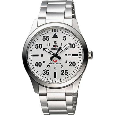 ORIENT 東方錶 SP 系列 飛行運動石英錶-銀/42mm
