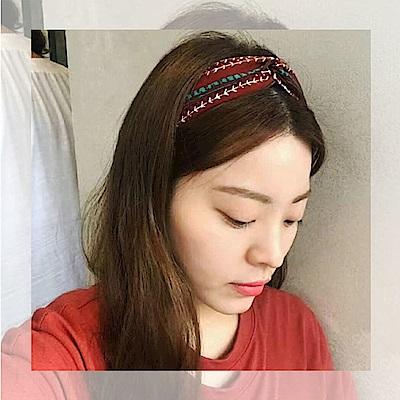 梨花HaNA 韓國小青鳥自由印花髮箍