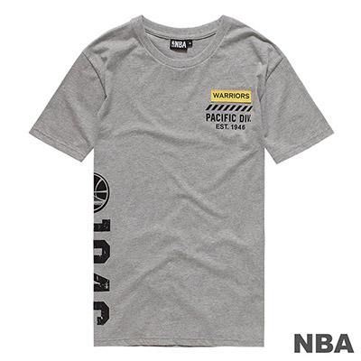 NBA-金州勇士隊布標繡花短T-麻灰 (男)