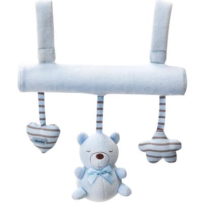 奇哥 布偶熊吊掛玩具-藍