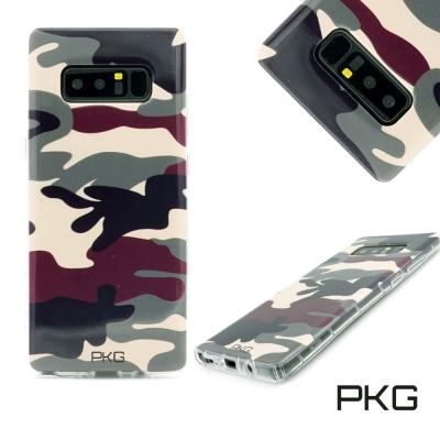 PKG SAMSUNG Note8 彩繪空壓氣囊保護殼-浮雕彩繪-軍事迷彩