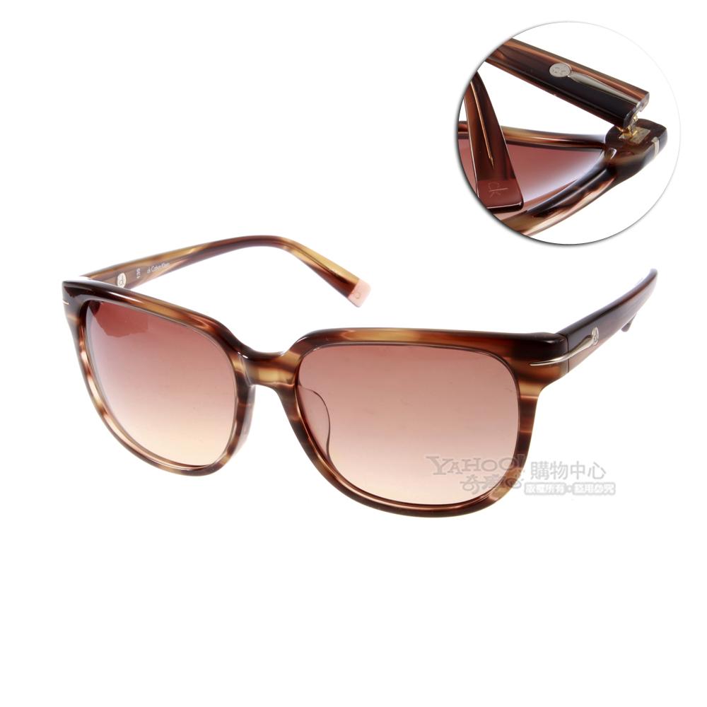 Calvin Klein太陽眼鏡 都會時尚/琥珀色#CK4205SA 274