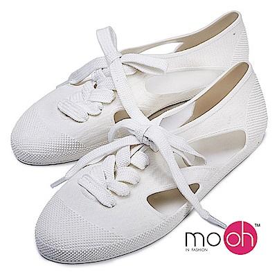 mo.oh-柔軟平底果凍沙灘涼鞋-白色