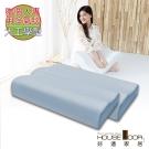 House Door 涼感纖維布 親水性涼感釋壓記憶枕-工學型-贈冷氣毯(2入)