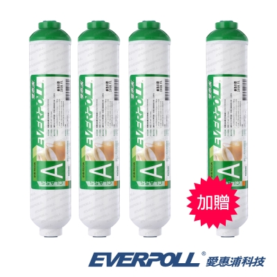 EVERPOLL愛惠浦科技 10英吋後置活性碳濾心EVB-T033A  [買3+送1]