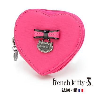 【french kitty】浪漫風尚-L- Lady系列心形零錢包-桃紅