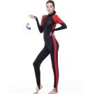 泳裝 水母衣 紅邊長袖連身水母衣 沙兒斯