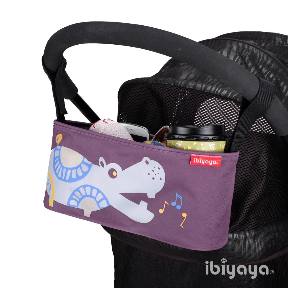 IBIYAYA依比呀呀-嬰兒/寵物推車專用-多用途置物吊袋-河馬