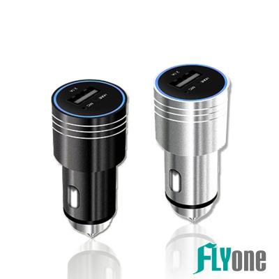 FLYone FM-W8 無線藍芽免持音樂車充- 急速配