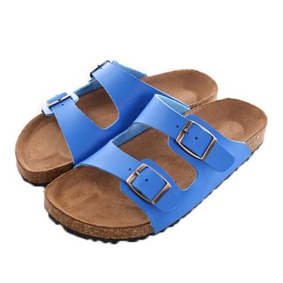 真皮中底涼拖鞋 藍 sd0170 魔法Baby
