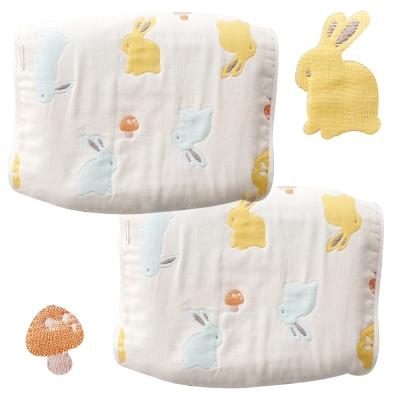 奇哥 快樂森林六層紗枕巾-小2入