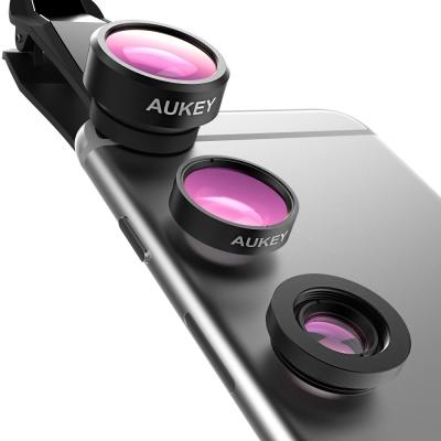 AUKEY 廣角微距魚眼三合一鏡頭 可夾式鏡頭 適用各類手機平板