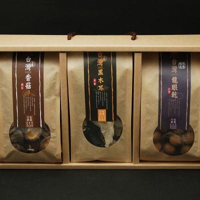 十翼饌 喜迎春山海珍味絕品禮盒(宗谷干貝SA級100g+香菇100g+厚岸昆布80g)
