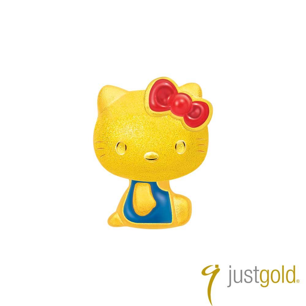 鎮金店Just Gold 經典復刻版Kitty黃金單耳耳環