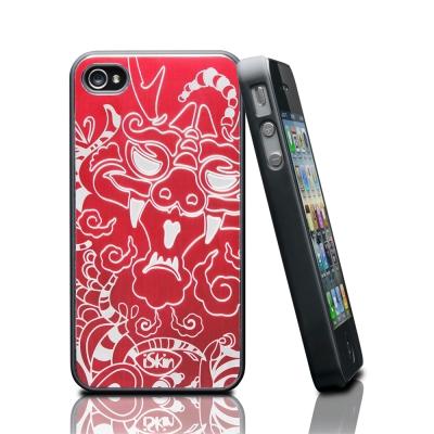 iSkin aura iPhone4/4S 鋁合金質感背蓋龍紋限定版
