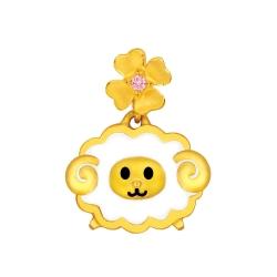 MANSTYLE 蜜糖羊黃金墜 (約0.81錢) (幸運草金飾出品)