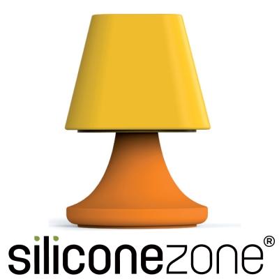 Siliconezone 施理康矽膠創意小檯燈鹽罐/胡椒罐-橘黃色