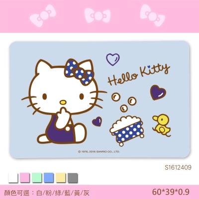 Hello Kitty珪藻土吸水地墊 (彩印-歡樂澡堂) 三麗鷗獨家授權