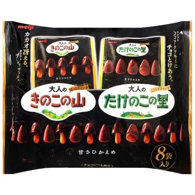 明治 大人奢華巧克力餅乾-蘑菇&竹筍造型(116g)