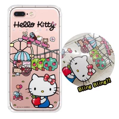 正版凱蒂貓 iPhone 8 Plus/ 7 Plus 夢幻童話 彩鑽氣墊手機殼...