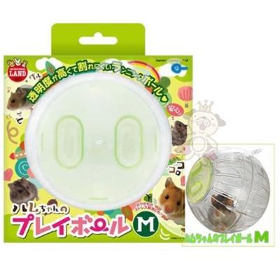 日本Marukan 鼠鼠跑跑 運動球 透明滾球 M號【ML-114】