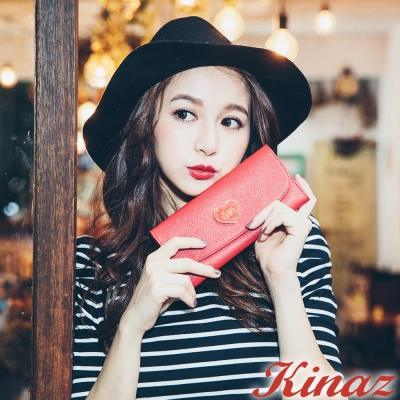 KINAZ - Best Love最愛巴黎系列~永誌不渝長夾-戀人紅