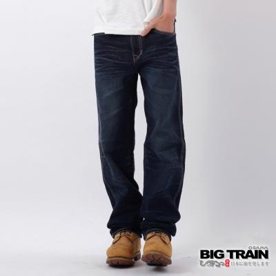 BIG-TRAIN-達磨直筒褲-男-深藍
