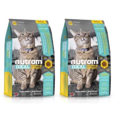 Nutram紐頓 專業理想系列 - I12 體重控制貓 雞肉豌豆 1.8kg X 2包入
