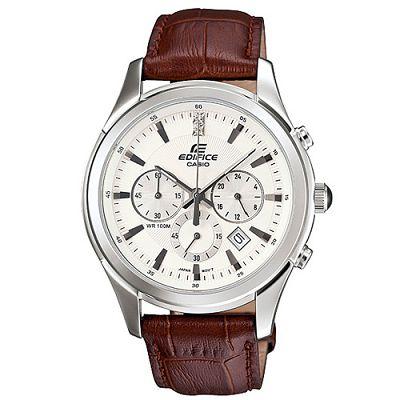 EDIFICE 完美主義施華洛士奇計時腕錶(EFR-517L-7A)-白/40.5mm