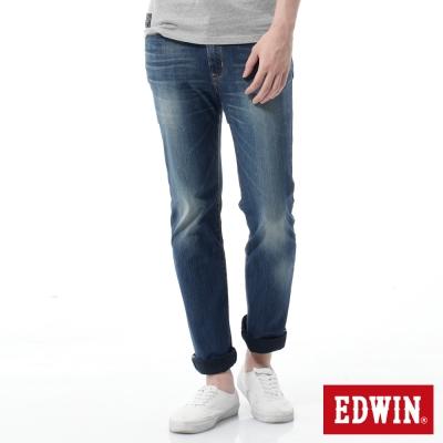 EDWIN 窄管褲 迦績褲JERSEYS紅布邊牛仔褲-男-石洗綠
