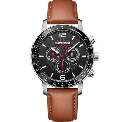 瑞士WENGER Roadster 速度競速計時腕錶(01.1843.104)45mm
