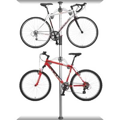 DISPLAY STAND頂天立地自行車停車塔(銀)