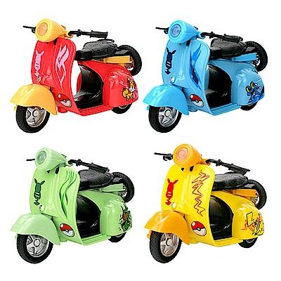 精靈寶可夢 神奇寶貝 皮卡丘 Q版迴力摩托車 4入組