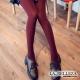 La Belleza溫暖質感‧保暖內刷毛超厚棉包腳內搭褲襪 (酒紅)