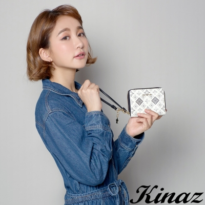 KINAZ 星夜戀歌兩折式短夾-棉花糖白-流星雨系列