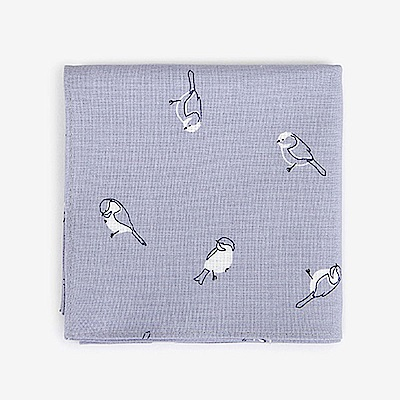 Dailylike 北歐風綿質手帕-45寧靜之雀