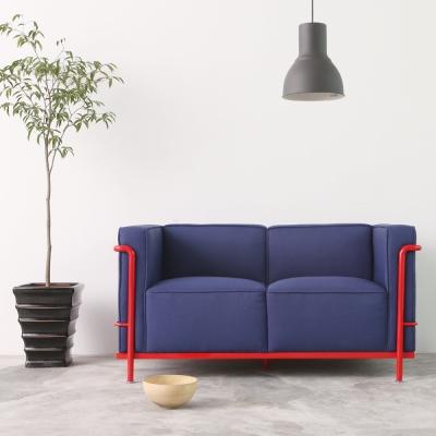 MODERN DECO-LC2復刻款現代風簡約雙人沙發-2色