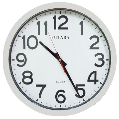 FUTABA高級超靜音亮銀大掛鐘 357