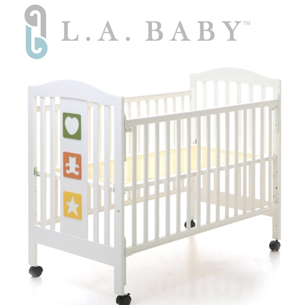 ( 美國 L.A. Baby)維吉尼亞嬰兒中床/原木床/童床(白色)