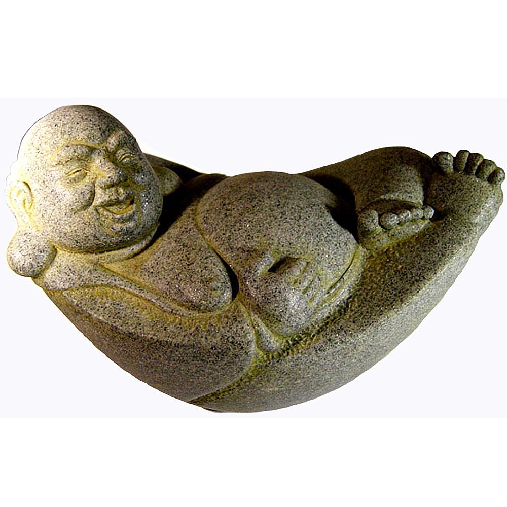 躺著賺 笑開懷 元寶財神 彌勒佛 五行石塑