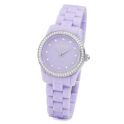 brosway True Color Mini 鑽面PC錶帶時尚腕錶-淺紫色/31mm