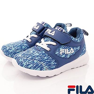 FILA 頂級童鞋 輕量記憶鞋墊慢跑款 422S-331藍(中大童段)