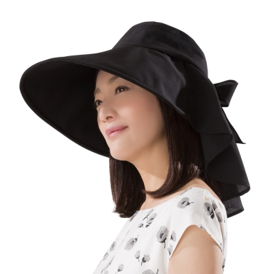 日本sunfamily 降溫防曬護頸可塑型名媛帽