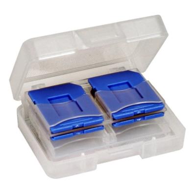 DigiStone SD/SDHC/ MircoSD 炫彩記憶卡收納盒(8片裝)- 藍色