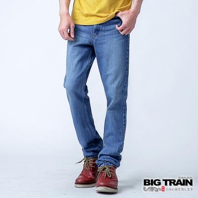 BIG TRAIN 基本款中腰直筒-男-淺藍