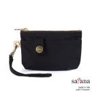 satana - 實用拉鍊化妝包/零錢包 - 黑色