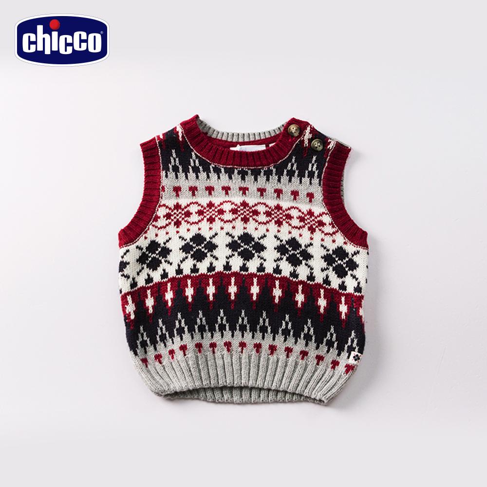 chicco森林緹織針織背心-灰 (12個月-18個月)