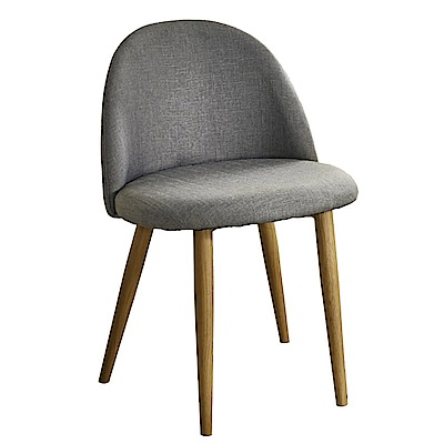 AT HOME 喬絲麻紗灰布鐵藝餐椅