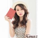 KINAZ - 永恆色偶然系列~羊皮輝映瑰麗鑰匙包-回憶紅