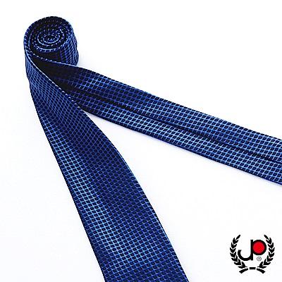 極品西服 100%絲質義大利手工領帶_寶藍格紋(YT5082)